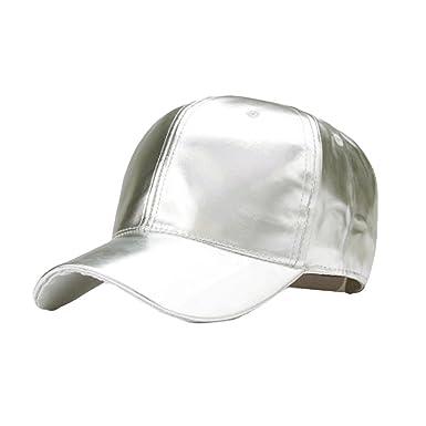 Cebbay Cap PU Material de Sombra Ocio Hip Hop Gorras de béisbol ...