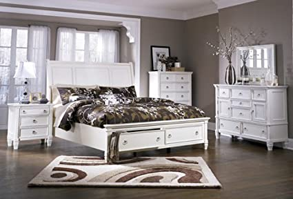 Amazoncom Signature Design By Ashley Prentice Bedroom Set With