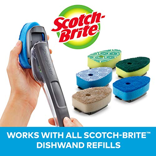 Scotch-Brite Non-Scratch Advanced Soap Control Dishwand, Leak-Free Guarantee, Keep Your Hands Out of Dirty Water, Long Lasting and Reusable