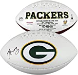 #8: Aaron Rodgers Green Bay Packers Autographed White Panel Football - Fanatics Authentic Certified - Autographed Footballs