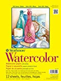 "Strathmore 360-111 300 Series Watercolor Pad, 11""x15"" Tape Bound, 12 Sheets"