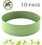 NewCool All Natural Mosquito Repellent Bracelet - 10 Pack, Non Toxic Reusable Insect Bands Mosquito Bug Repellent Wristband for Kids, Toddler and Adults - Deet Free