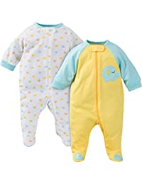 Baby Girls' 2 Pack Zip Front Sleep 'n Play