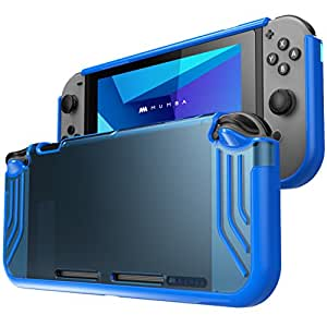 Mumba Nintendo Switch case, [Slimfit Series] Premium Slim Clear Hybrid Protective Case for Nintendo Switch 2017 release (Blue)