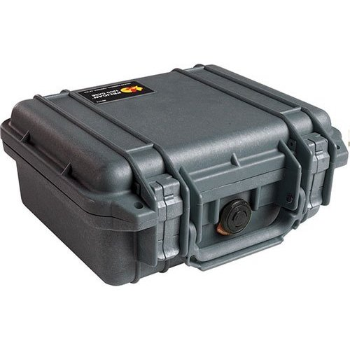 Pelican Products 1200-001-110 1200 Case (No foam) - Internal Dimensions: 9.25 inch Length x 7.12 inch Width x 4.12 inch Depth - 1.20 gal - External Dimensions: 10.6 inch Length - Pelican Black Case 1200