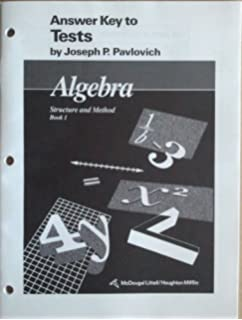 Amazon mcdougal littell structure method tests blackline algebra structure and method book 1 answer key to tests fandeluxe Image collections