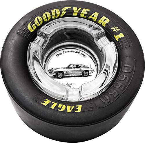 Dale Adkins Art Classic Car Tire Ashtray (1966 Corvette Stingray - 01) (Corvette Ashtray)
