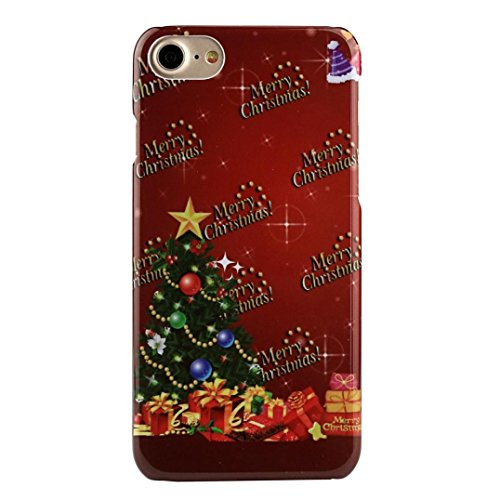 Tenworld X'MAS Gifts Merry Christmas Pattern Back Case Cover For for iPhone 7 4.7 Inch/iPhone 7 Plus 5.5 Inch (For iPhone 7 4.7