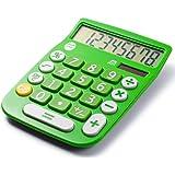 Office+Style A2DESKTOPGREEN 8 Digit Dual Powered Desktop Calculator, LCD Display, Green