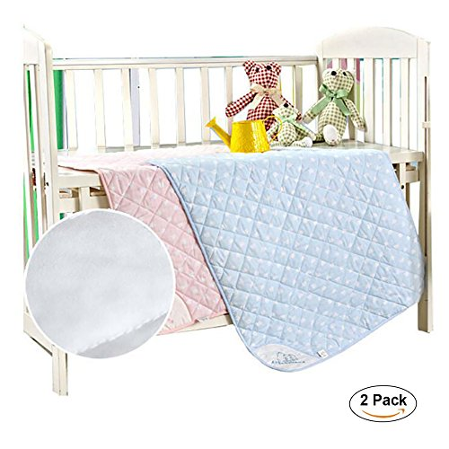 """NeatoTek 2 Pack Large Size 35x27"""" Bed Pads Washable Waterproof Mattress Protector, Reusable Pee Pads for Bed Wetting Toddlers, Adults, Elderly, Women or Kids, Children Waterproof Mattress Pad by NeatoTek"""
