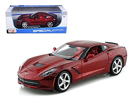 2014 Chevrolet Corvette C7 Stingray Metallic Red Special Edition 1/18  Diecast Model Car By