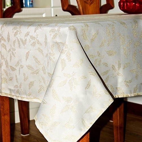 Mantel de Navidad de poliéster Línea Dorada cubierta blanca Mantel ...