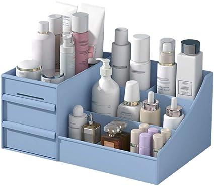 Caja organizadora de maquillaje, de plástico, con cajones organizadores de maquillaje, recipientes, caja de almacenamiento de joyas, de maquillaje, caja de regalo para mujeres: Amazon.es: Belleza