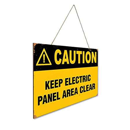 Mr.sign Caution Keep Electric Panel Area Clean Hazard Labels ...
