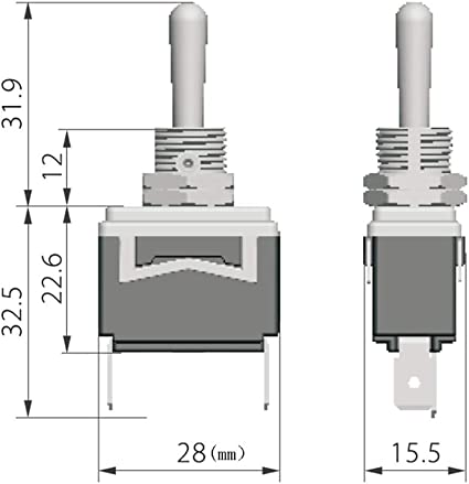 2Pcs KEDU HY29H 2Pins Toggle Switch ON-OFF Dust-Proof Switches Suitable for  All Kinds of Devices or Appliances AC 125/277V 20/15A CE TUV - - Amazon.com | Hy29h Toggle Switch Wiring Diagram |  | Amazon.com