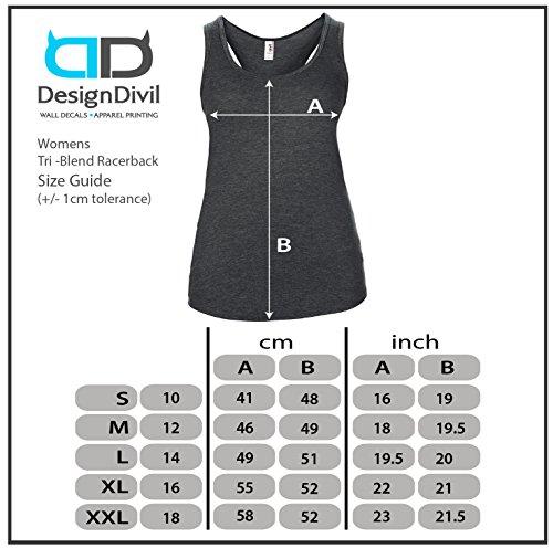 DesignDivil - Camiseta - para mujer Heather Gris Oscuro