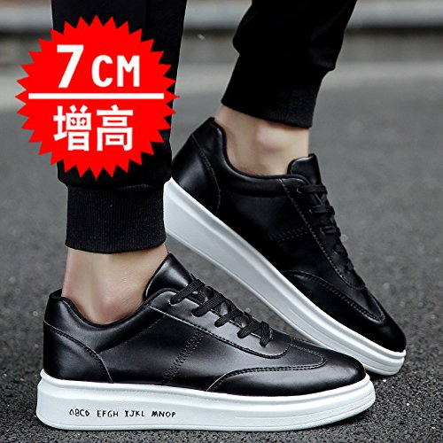 GUNAINDMX Spring and summer/men/board shoes/increased/casual/leather shoes/sports/shoes, 38,5550 black