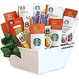California Delicious Gift Basket, Starbucks Coffee, Cocoa and Chocolate