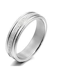 Gemini Custom His or Her Anniversary Wedding Couple Titanium Rings width 4mm Valentine's Day Gift