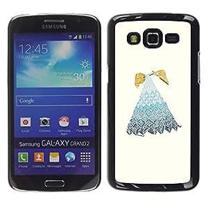 Caucho caso de Shell duro de la cubierta de accesorios de protección BY RAYDREAMMM - Samsung Galaxy Grand 2 SM-G7102 SM-G7105 - Embroidery Grandmother Grandma