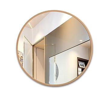 Miroir Pour Salle De Bain Avec Cadre En Bois Rond Miroir
