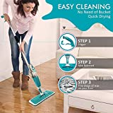Hk Villa Multifunctional Stainless Steel Microfiber Floor Cleaning Healthy Spray Mop with Removable Washable Cleaning Pad and Integrated Water Spray Mechanism, mop for cleaning floor, home cleaning mops, floor cleaning mops, spray mops for floor cleaning