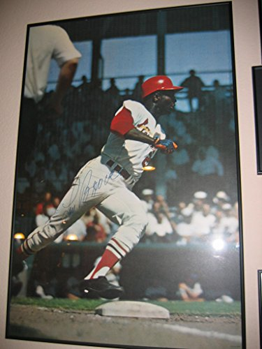 - * LOU BROCK * St. Louis Cardinals signed vintage 1968 Sports Illustrated 2'x3' poster