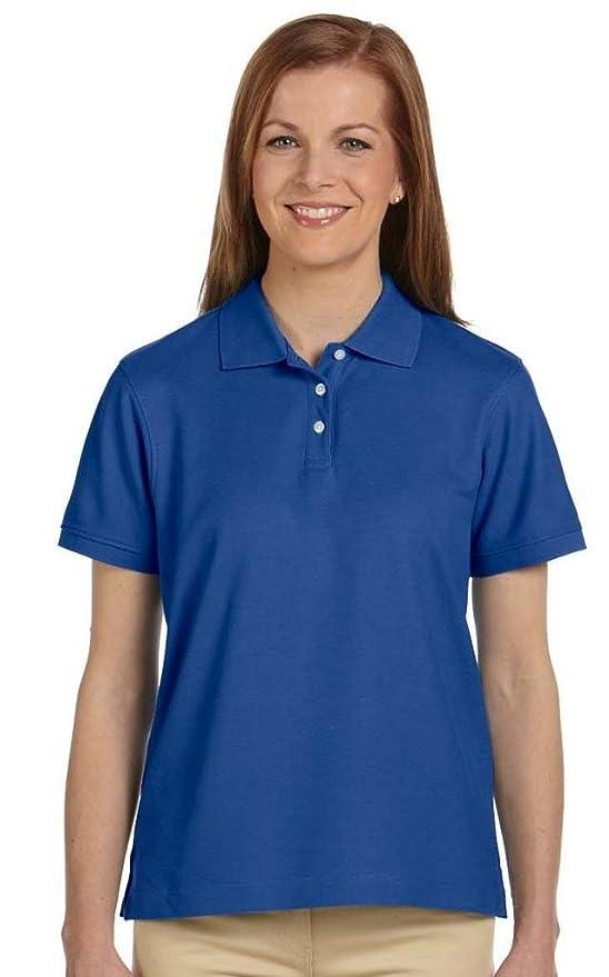 Devon & Jones Mujer Pima Pique - Polo de manga corta camiseta deportiva de manga larga: Amazon.es: Hogar