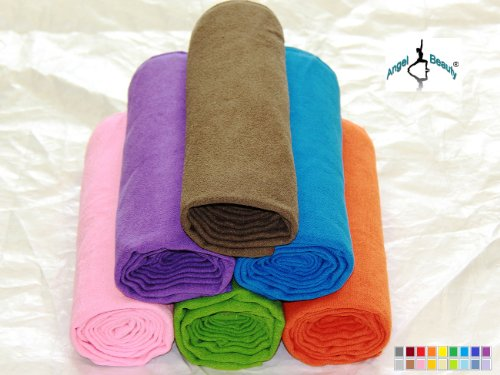 AngelBeauty Microfiber Extra Thickness Yoga Towel Mat Length (24