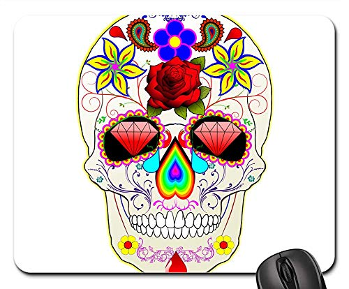 Mouse Pads - Mexican Sugar Skull Day Dead