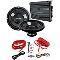 2) New Kenwood KFC-W112S 12 1600W Car Subwoofers + KAC-5206 400W Amp + Amp Kit