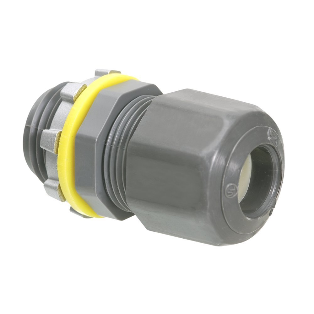 Arlington Industries LPCG503 1/2-Inch Low-Profile Strain Relief Cord Connectors, 25-Pack