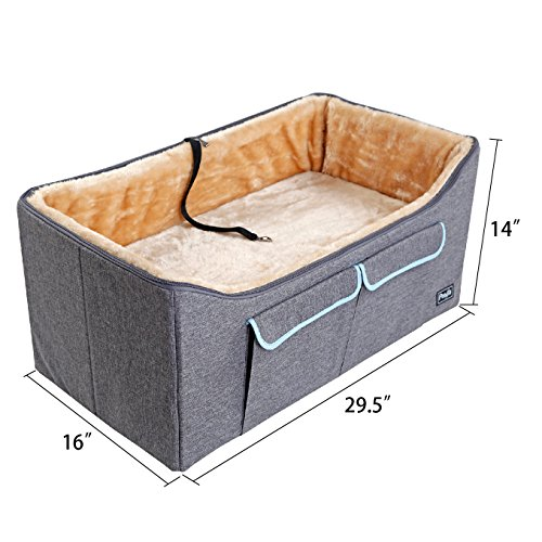 Petsfit Booster Seat,Car Seat For Small Dogs and Cats,With Big Pocket
