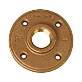 Merit Brass Brass Pipe Fitting, Class 125, Floor Flange, 1'' x 1'' National Pipe Taper Thread Female (Pack of 10)