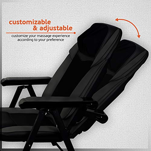 Folding Massage Chair Heat Function Relief, Portable Back Massage Chair Has USB Great and Shoulder Kneading