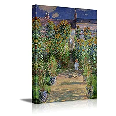 The Artist's Garden at Vetheuil by Claude Monet Impressionist Art 24