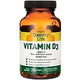 Country Life - Vitamin D3, Non-fish 1000 IU - 200 Softgels