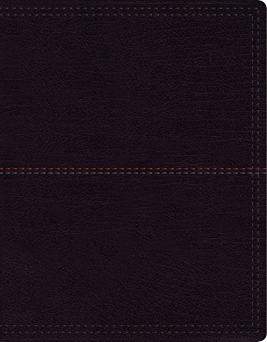 NIV, Journal the Word Bible, Large Print, Leathersoft, Black: Reflect on Your Favorite Verses