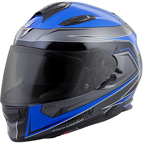 ScorpionExo Unisex-Adult full-face-helmet-style EXO-T510 Helmet (Blue/Black,Large), 1 ()