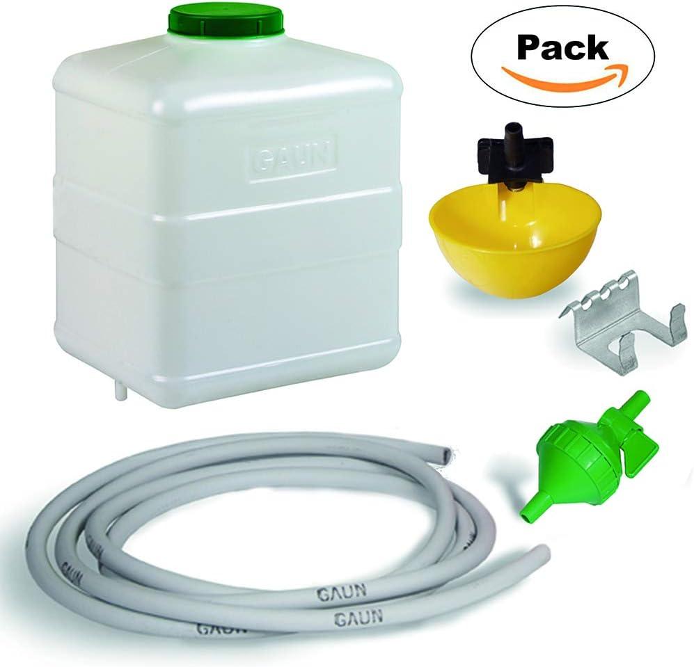 FINCA CASAREJO Kit Bebedero automático para Aves con depósito de 20 litros.