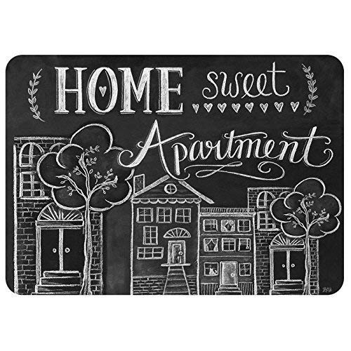 Cartoon Oranges and Cherries Background, Funny Polyester Home Doormat Non Slip Indoor/Outdoor/Front Door/Bathroom Entrance Mats Rugs Carpet,23.6