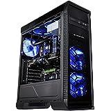 XIGMATEK 光るブルーLEDを搭載 スタイリッシュなミドルタワーケース FRONTLINER