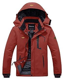 Wantdo Men's Waterproof Fleece Ski Jacket Windproof Rain Jacket Outdoor Jacket Brick Red M (B07B2T4Q7P) | Amazon price tracker / tracking, Amazon price history charts, Amazon price watches, Amazon price drop alerts