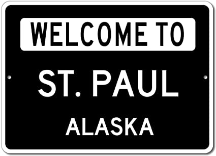 amazon com welcome to st paul alaska city state custom