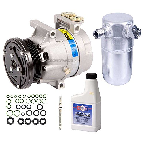 New AC Compressor & Clutch With Complete A/C Repair Kit For Chevy Pontiac - BuyAutoParts 60-80134RK New (Lumina A/c)