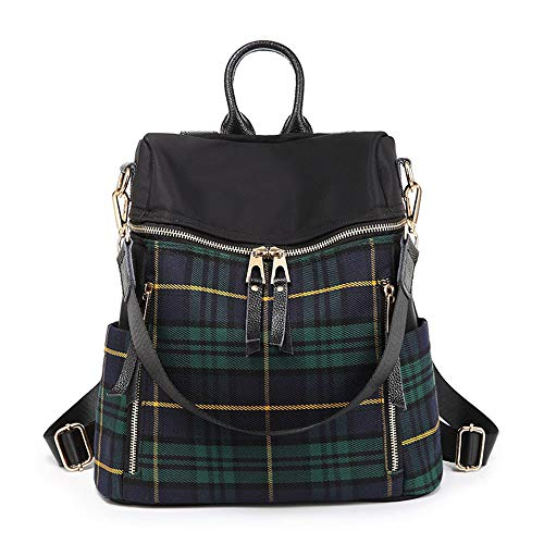 Shoulder Bag Plaid Backpack Stylish Busty Student Travel Bag