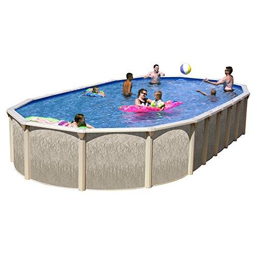 Splash Pools GA NB331852DG-CFP Slim Style Georgian Complete Above Ground Pool Package, 33' x 18' x 52'' by Splash Pools