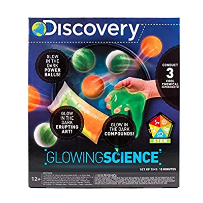 Discovery Kids Glowing Science Kit by Horizon Group USA, Great Stem Experiments, Create Your Own Glow In The Dark Power Balls & More, Model:765940712924: Toys & Games