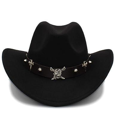 d27b1151b15e0 Hat- Unisex Warm Fedora Comfortable Dakota Crushable Wool Felt Western  Cowboy Casual (Color   Black