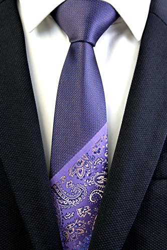 Quality By Paisley High Mens Classic Purples Hand Silky Textile Made Neck Patterned Tie Neki Slim WYnrYaqwH